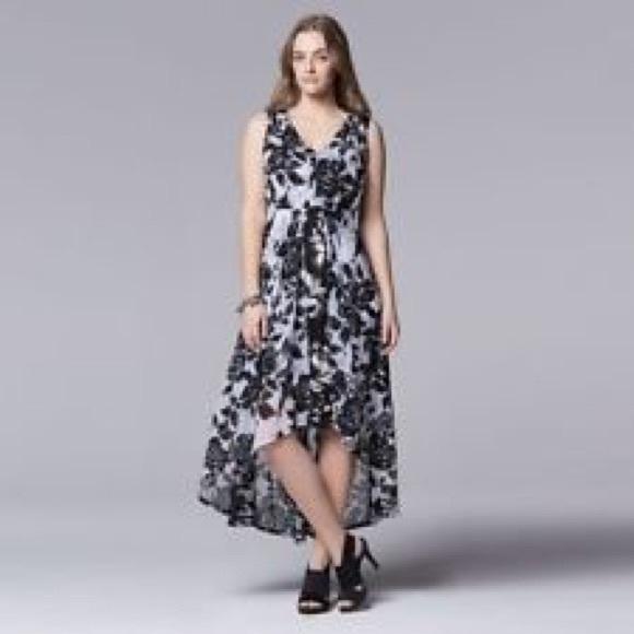fa0662d3 Simply Vera Vera Wang Dresses | Floral Hi Low Dress | Poshmark